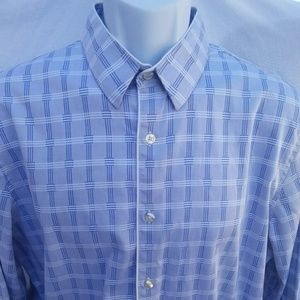 Murano slim fit button down dress shirt large
